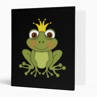Fairy Tale Frog Prince with Crown 3 Ring Binder