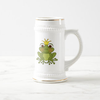 Fairy Tale Frog Prince with Crown Beer Stein