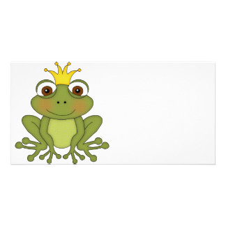Fairy Tale Frog Prince with Crown Card