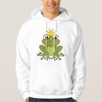 Fairy Tale Frog Prince With Crown Hoodie