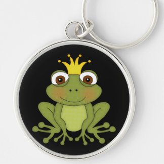 Fairy Tale Frog Prince with Crown Keychain