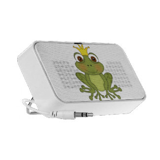 Fairy Tale Frog Prince with Crown Laptop Speaker