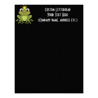 Fairy Tale Frog Prince with Crown Letterhead