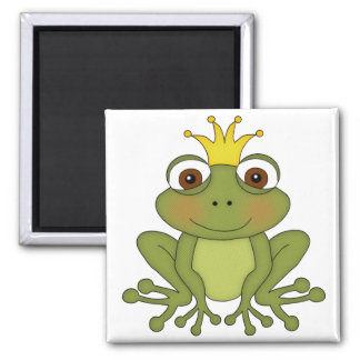 Fairy Tale Frog Prince with Crown Magnet