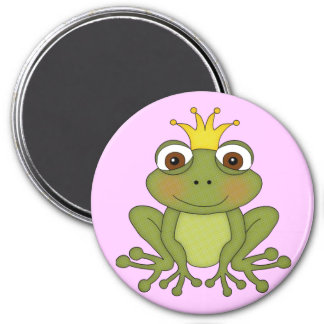 Fairy Tale Frog Prince with Crown Magnets