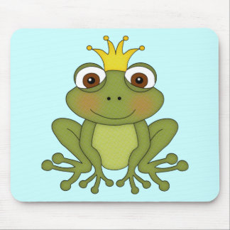 Fairy Tale Frog Prince with Crown Mousepads