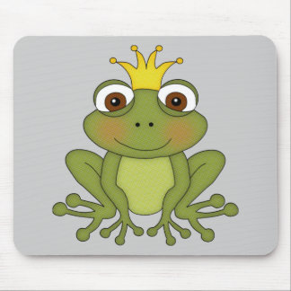 Fairy Tale Frog Prince with Crown Mouse Pads