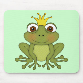 Fairy Tale Frog Prince with Crown Mousepad
