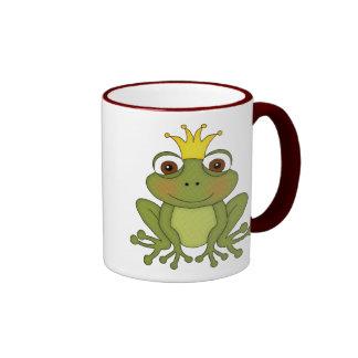 Fairy Tale Frog Prince with Crown Mug
