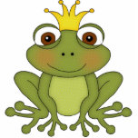 Fairy Tale Frog Prince with Crown Standing Photo Sculpture