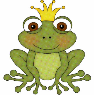 Fairy Tale Frog Prince with Crown Cut Out