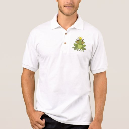 Fairy Tale Frog Prince With Crown Polo Shirts