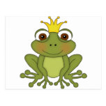 Fairy Tale Frog Prince with Crown Postcard