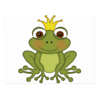 Fairy Tale Frog Prince with Crown Post Card