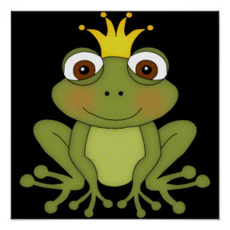 Fairy Tale Frog Prince with Crown Print