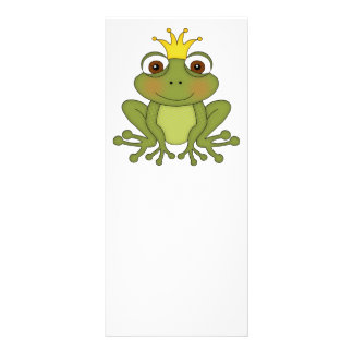 Fairy Tale Frog Prince with Crown Rack Card