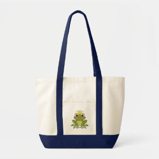 Fairy Tale Frog Prince with Crown Tote Bag