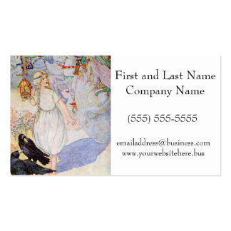 Fairy Tale Girl Blond Princess and Ravens Double-Sided Standard Business Cards (Pack Of 100)