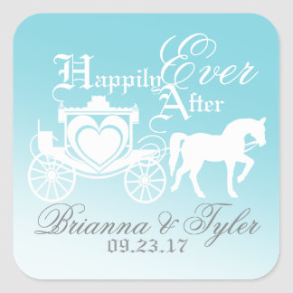 Fairy Tale Happily Ever After Square Sticker