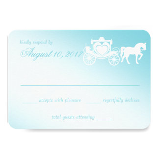Fairy Tale Horse and Carriage Wedding 3.5x5 Paper Invitation Card