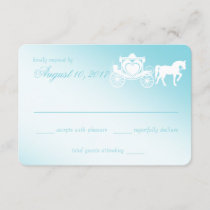 Fairy Tale Horse and Carriage Wedding RSVP Card