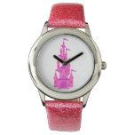 Hand shaped Fairy Tale Hot Pink Princess Castle Watch