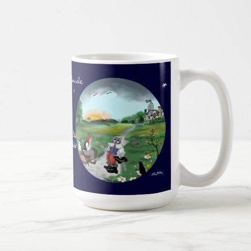 Fairy tale hour: gestiefelte tomcat classic white coffee mug