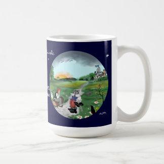 Fairy tale hour: gestiefelte tomcat coffee mug