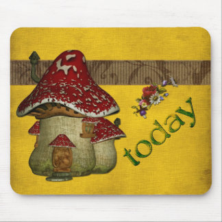 Fairy tale house mouse pad