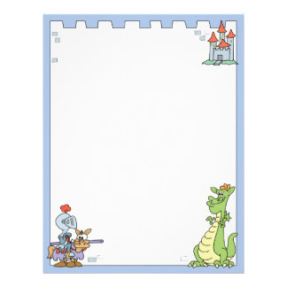 Fairy Tale Knight and Dragon Letterhead