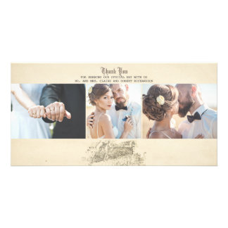 Fairy Tale Old Vintage Wedding Thank You Card