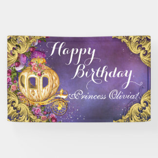 Fairy Tale Princess Carriage Princess Birthday Banner