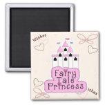 Fairy Tale Princess Castle Design Fridge Magnet