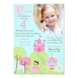 Fairy Tale Princess Fourth Birthday Invitation