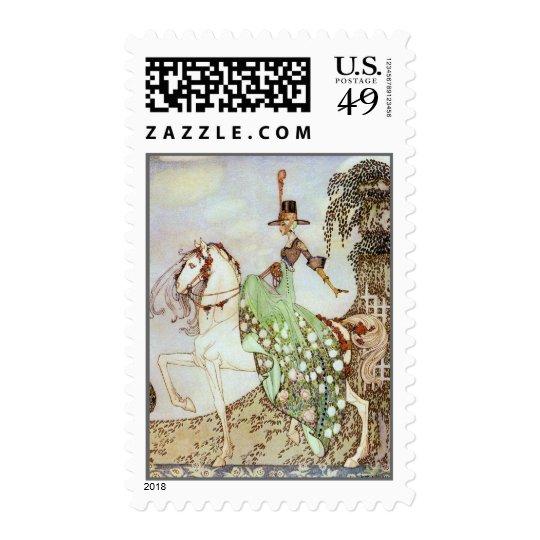 Fairy Tale Princess Riding iinto the World Postage