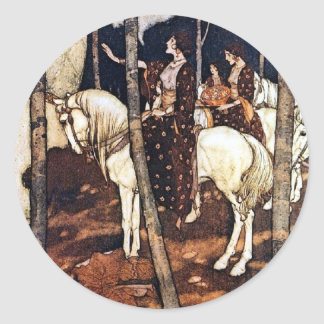 Fairy Tale Queen Horses Large Sticker