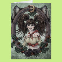 "Fairy Tale ""Red Riding Hood"" Fantasy Art Card #1"