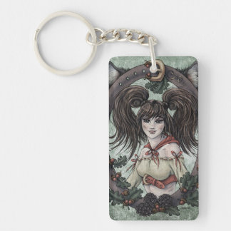 "Fairy Tale ""Red Riding Hood"" Fantasy Keychain #2"