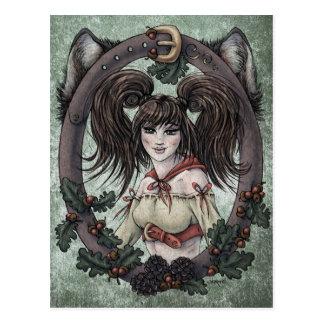 "Fairy Tale ""Red Riding Hood"" Fantasy Postcard #1"