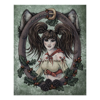 """Fairy Tale """"Red Riding Hood"""" Glossy Perfect Poster"""