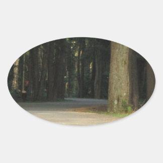 Fairy Tale Road Oval Sticker