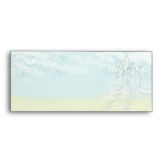 Fairy Tale Sand Castle Beach Wedding Envelope