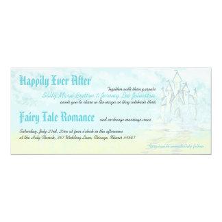 Fairy Tale Sand Castle Beach Wedding Invitation
