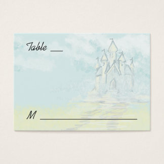 Fairy Tale Sand Castle Beach Wedding Place Cards