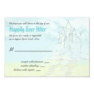 Fairy Tale Sand Castle Beach Wedding RSVP Card