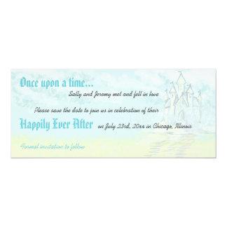 Fairy Tale Sand Castle Beach Wedding Save the Date Card