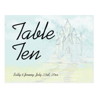 Fairy Tale Sand Castle Beach Wedding Table Card