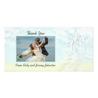 Fairy Tale Sand Castle Beach Wedding Thank You Card