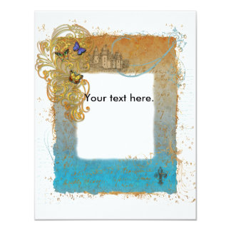 Fairy Tale Storybook Castle Invitation Card