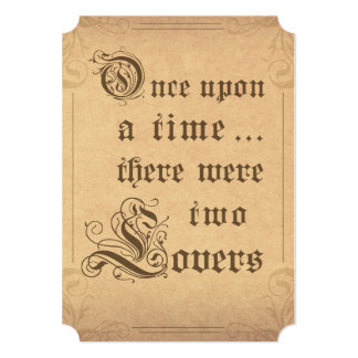 Fairy Tale Storybook Once Upon A Time Sign Card